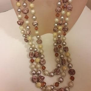 Vintage multistrand necklace
